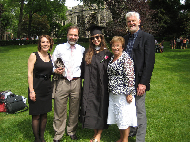Joel and Dianne with Janine and her parents.