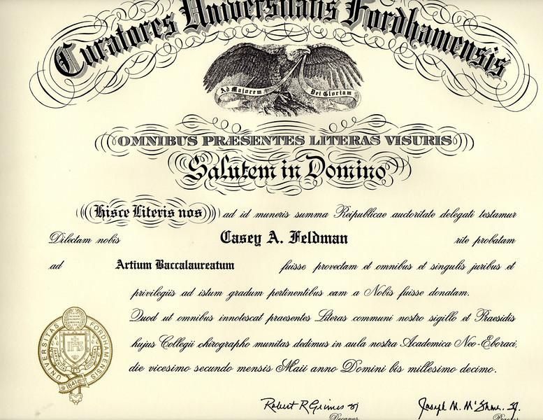 Casey's diploma!