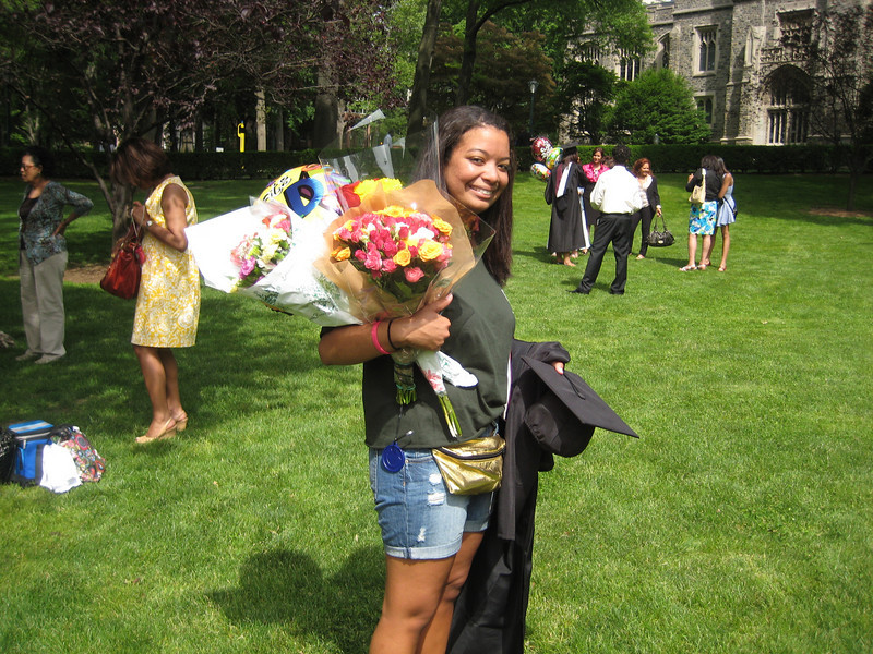 Flowers for Kelsey. No Kelsey, they will not fit in that fanny pack.