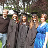 Seb, Christina, Kelsey, Janine and Holly. Holly's turn to graduate is next year!
