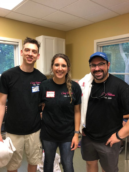 Thank you Matt, Becka and Dan for helping us honor Casey's memory. Day of Service 2018 — with Matt Grace, Becka Cancelosi and Dan Bergels