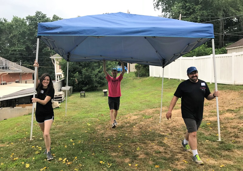 Oh no - rain! Let's cover that food! Day of Service 2018 — with Tara Dactyl, Matt Thornton and Dan Bergels