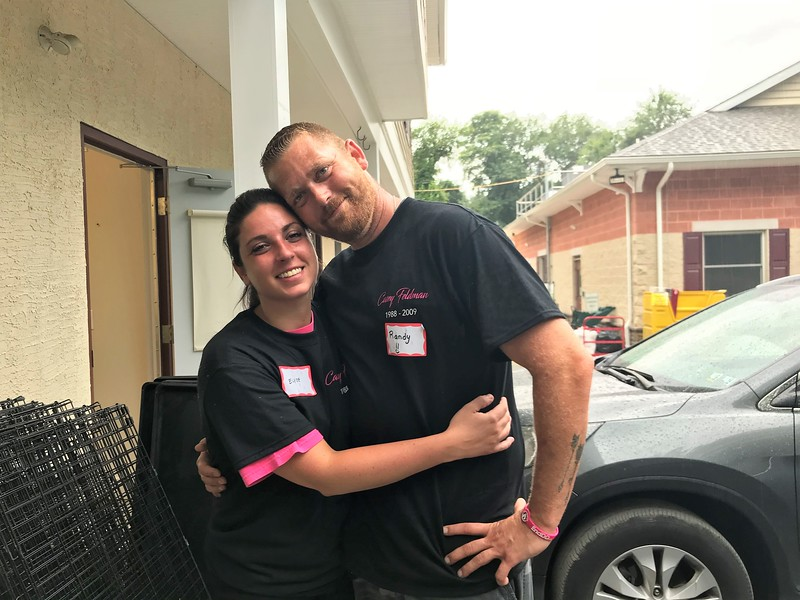 Feeling the love - Elyse and Randy were going to be looking at wedding venues after our Day of Service! — with Elyse Marinelli and Randy Saling