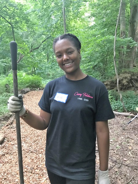 """Wonderful to have our 2017 Cappies scholarship, India Henderson, join us to honor Casey's memory! <a href=""""http://bit.ly/CFFIndia"""">http://bit.ly/CFFIndia</a> Day of Service 2018"""