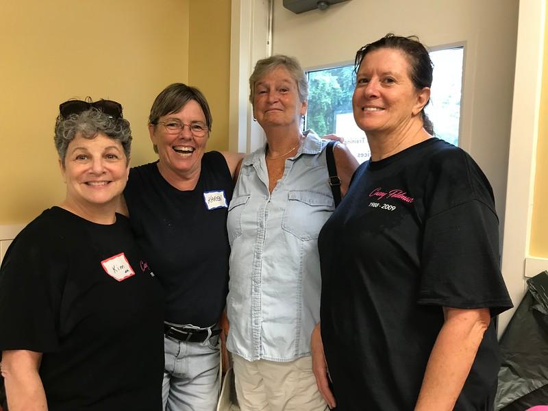 Kim, Karen, Mick and Janet. Thank you ladies! Day of Service 2018 — with Kim McGowan and Karen Brooks