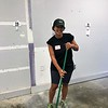Stephanie King - cleaning the temporary dog space. Day of Service 2018