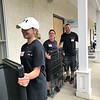 Hauling out the dog crates for cleaning. Day of Service 2018 — with Caroline King, Elyse Marinelli and Randy Saling