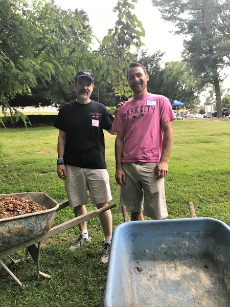 Casey's dad, Joel and his neohew Nick. Day of Service 2018