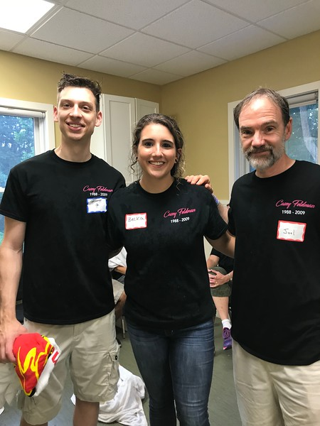 Matt Grace, Stephanie Vagnozzi and Casey's dad, Joel Feldman - lunch time at our Day of Service. Thank you Matt and Stephanie! Day of Service 2018 — with Matt Grace and Steph Marie