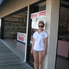 "Casey in front of Bob's Grill on 7-10-09, one week before her accident. <a href=""http://caseyfeldman.smugmug.com/Shore/Misc-08-09/9209769_uxX8k#663243210_tt8Zk""> Click here to see more photos from this gallery, > Shore > 08' & 09' </a>."