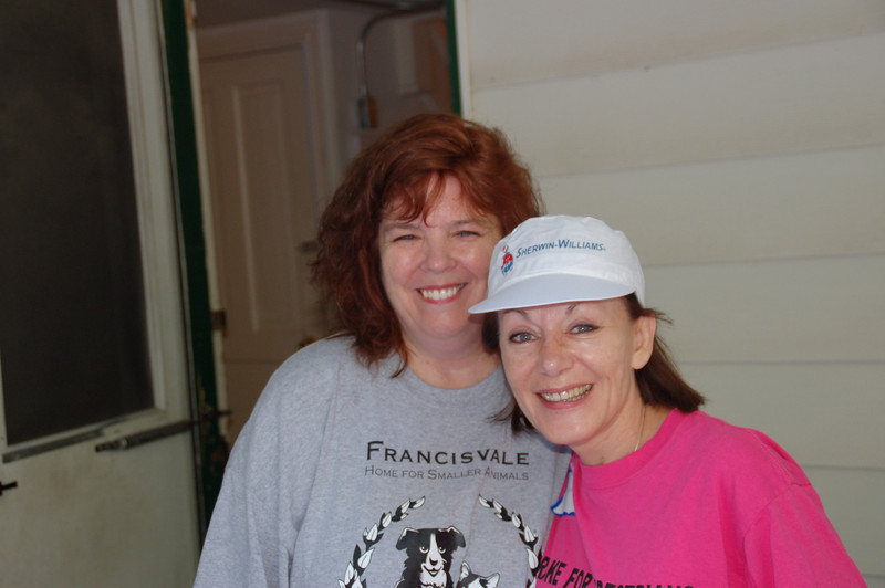 Francisvale's Executive Director, Jodi Button and Dianne Anderson (Casey's mom)
