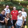 Lunch break out back - Brett, Melissa, Annette (front); Bob, Steve and Jason back (l to r)