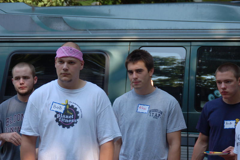 Did we really agree to this? L to R: Rob Viso, Bob Gibson, Alex Stewart and Brett Feldman (Casey's brother).