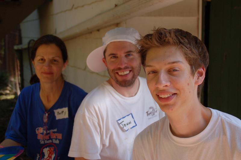 Matt Grace (front), John Gildea and Betty Thornton.