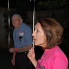 Casey's mom, Dianne speaking before the balloon release, with Mom Mom and Pop Pop Anderson in the background.