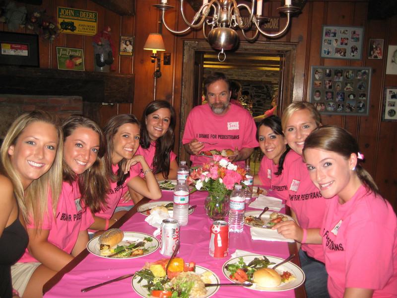 Center: Casey's dad, Joel Feldman<br /> L Front: Melissa Moritz, Kaitlyn Carullo, Jackie Cahill, Rachael Kemmey<br /> R Front: Amber Staska, Jayme Richards, Lauren DiCrecchio