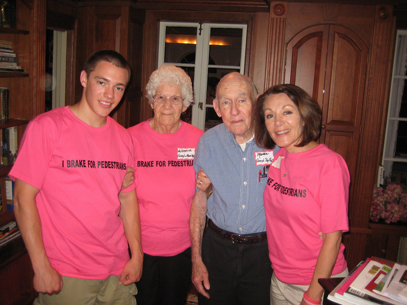 Casey's brother Brett Feldman, Mom Mom and Pop Pop Anderson and mom, Dianne Anderson.