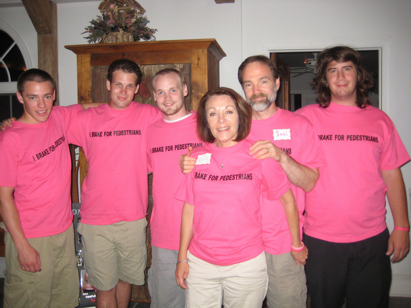 L: Brett Feldman (Casey's brother), Rich Stoll, Steve Kennedy, Casey's mom and dad - Dianne and Joel, and Brian Morse