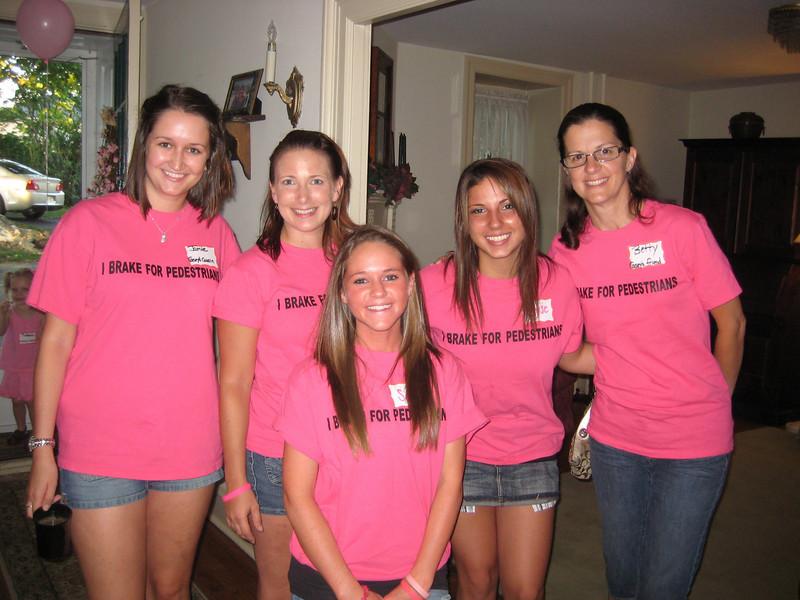 L: Jamie Gallagher (Casey's cousin), Melissa MacNeill (cousin), Sami Csaniz, Elyse Marinelli and Betty Thornton