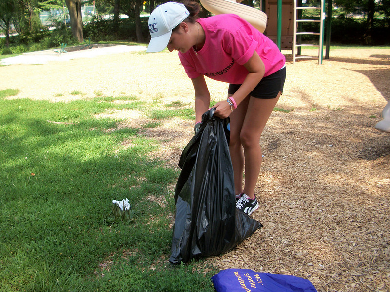 Rachael, cleaning up!