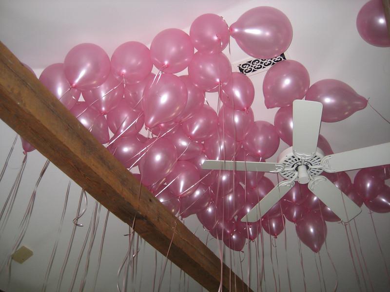 Pink balloons!
