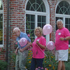 Grandfather Martin Anderson and Aunt Janice and Uncle Jim Gallagher. Time to gather together to release the balloons.