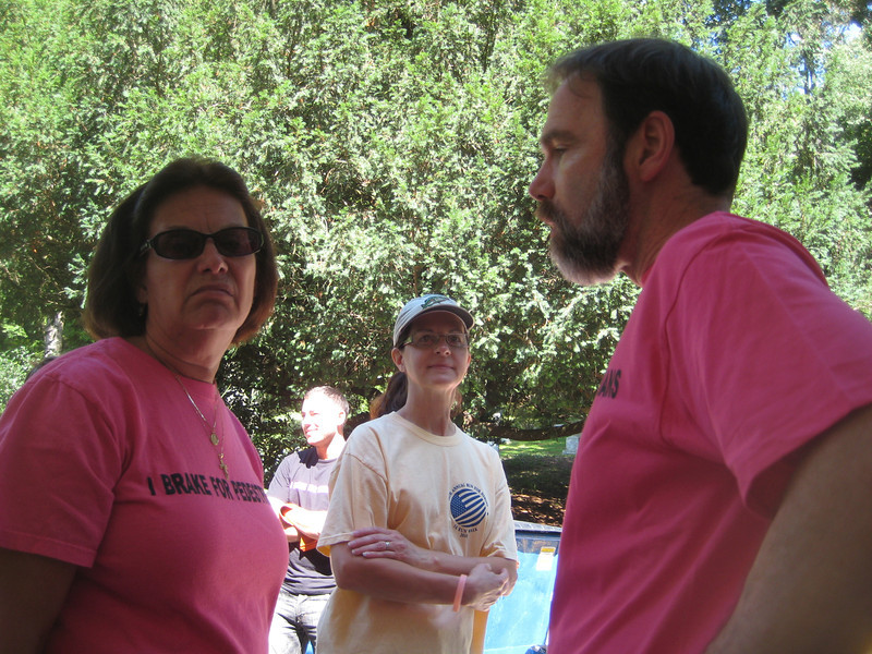 Robin Garrity (left), Betty Thornton and Joel Feldman.