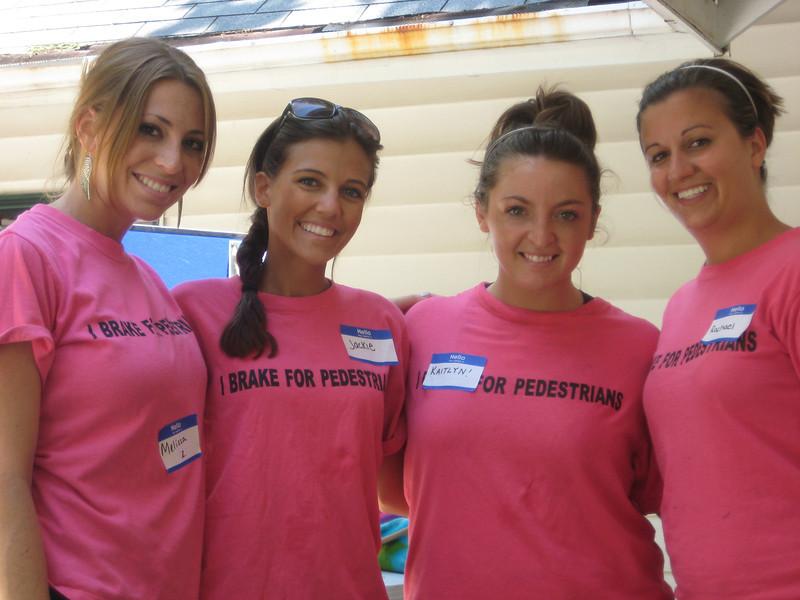 Lovely laidies! Casey's dear Springfield friends - Melissa Zirolli (left), Jackie Cahill, Kaitlyn Carullo and Rachael Kemmey