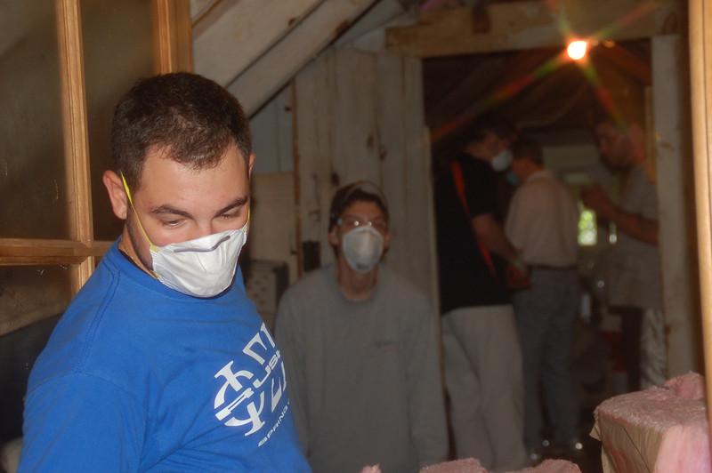 Insulating the attic!<br /> Phil Knasiak