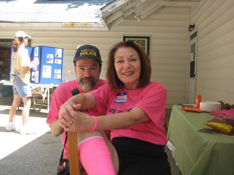 Joel Feldman and Dianne Anderson, Casey's parents. Yes, the pink cast is in honor of Casey.