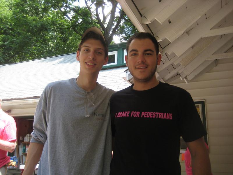 Matt Grace and Phil Knasiak, Casey's Springfield friends.