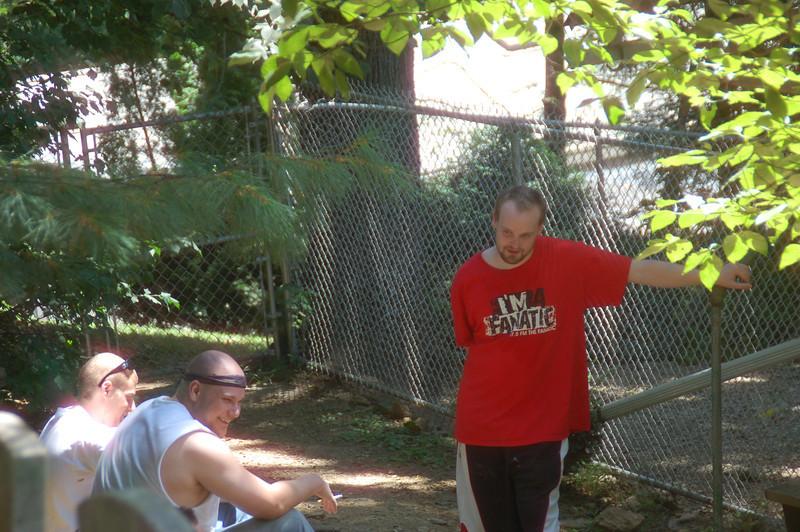 Bob Gibson, Jason Spector and Stephen Kennedy taking a break.