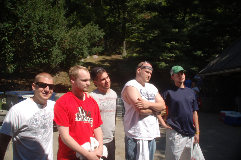 Brett's buddies arrived to honor Casey.<br /> L to R: Jason Spector, Stephen Kennedy, Ryan Gellar, Bob Gibson and Jim Donahue