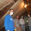 Insulating the attic!  Phil Knasiak (left), Ryan Gellar, Dan Smisko and Matt Grace.