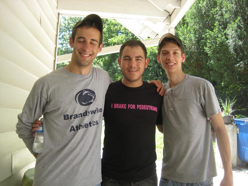 Matt Thornton (left), Phil Knasiak, and Matt Grace.