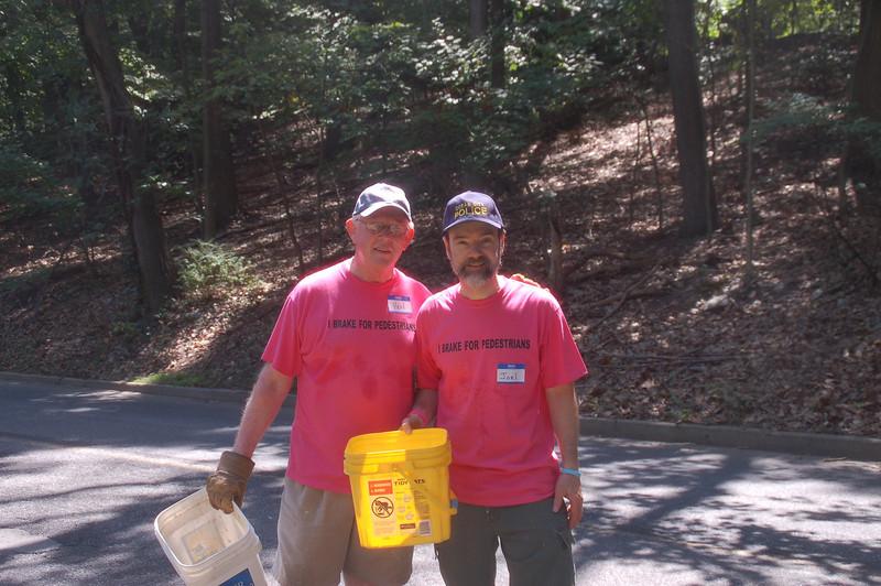 Ken Garrity and Joel Feldman(Casey's dad) just dumped a few buckets of rocks.