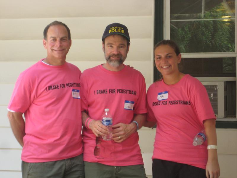 Ricky Liss (left), Joel Feldman and Maddie Liss.