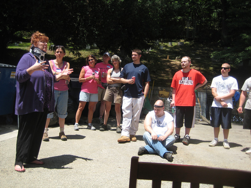 The group listens as Jodi Button thanks everyone for their hard work in honor of Casey.