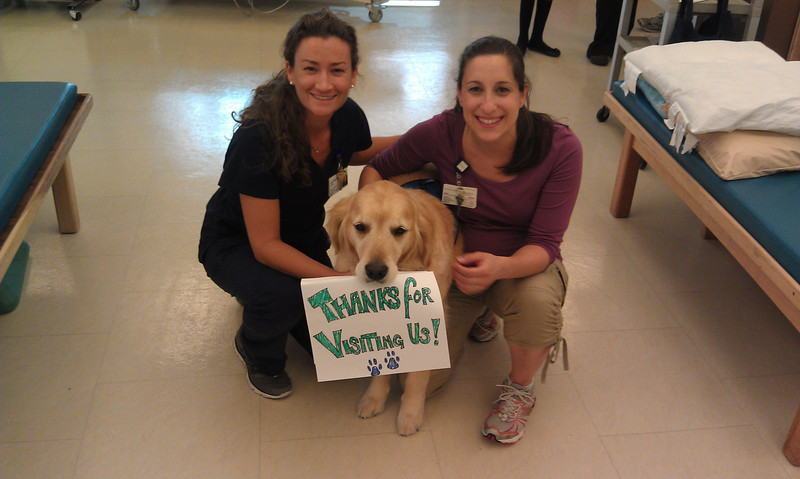 Occupational Therapists, Cate Dorr (L) and Christine Rineheimer with Ford
