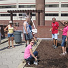 Volunteers assisted with the many gardens at Magee