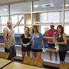 Cleaning windows! Bobby Gibson, Margaret Ciavarelli, Lori Gibson & Mary Corey