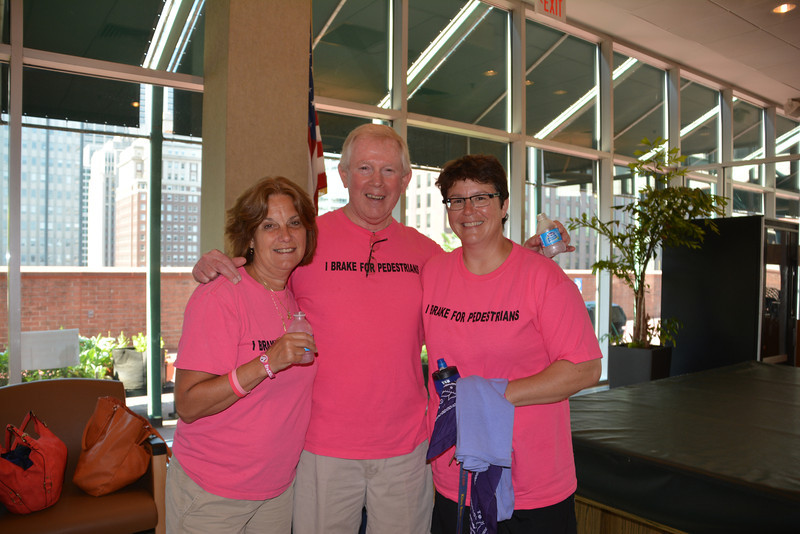 Robin and Ken Garrity (L) and Christine Belton