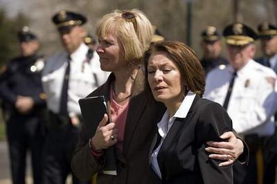 Cherry Hill: Pam Fischer gives Dianne a hug.
