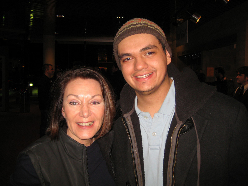 Henry and Mrs. Feldman (Dianne Anderson) after the performance.
