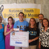 Phi Sigma Pi delivers a $3800 check to NOYS!<br /> <br /> L to R: NOYS officials, Sandy Spavone and Nicole Graziosi, Phi Sigma Pi brothers Phil Knasiak, Jess Barr, and Casey's parents, Joel Feldman and Dianne Anderson