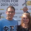 Phi Sigma Pi brothers Phil Knasiak and Jessica Barr at the morning press event launching the Decade of Action For Road Safety 2011-2020