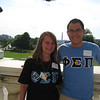 Phi Sigma Pi brothers Phil Knasiak and Jess Barr on the steps of the Capital after the Congressional briefing