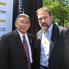 Casey's father, Joel Feldman and the Honorable Norman Y. Mineta, former U.S. Secretary of Transportation,  Chariman, Make Roads Safe North America, and U.S. Member, Commission for Global Road Safety