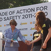NOYS student leaders presenting a safety award to Senator Amy Klobuchar (D-MN)