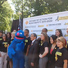 NOYS student leaders pose with Grover and the Honorable Norman Y. Mineta